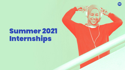 Spotify Summer 2021 Internships